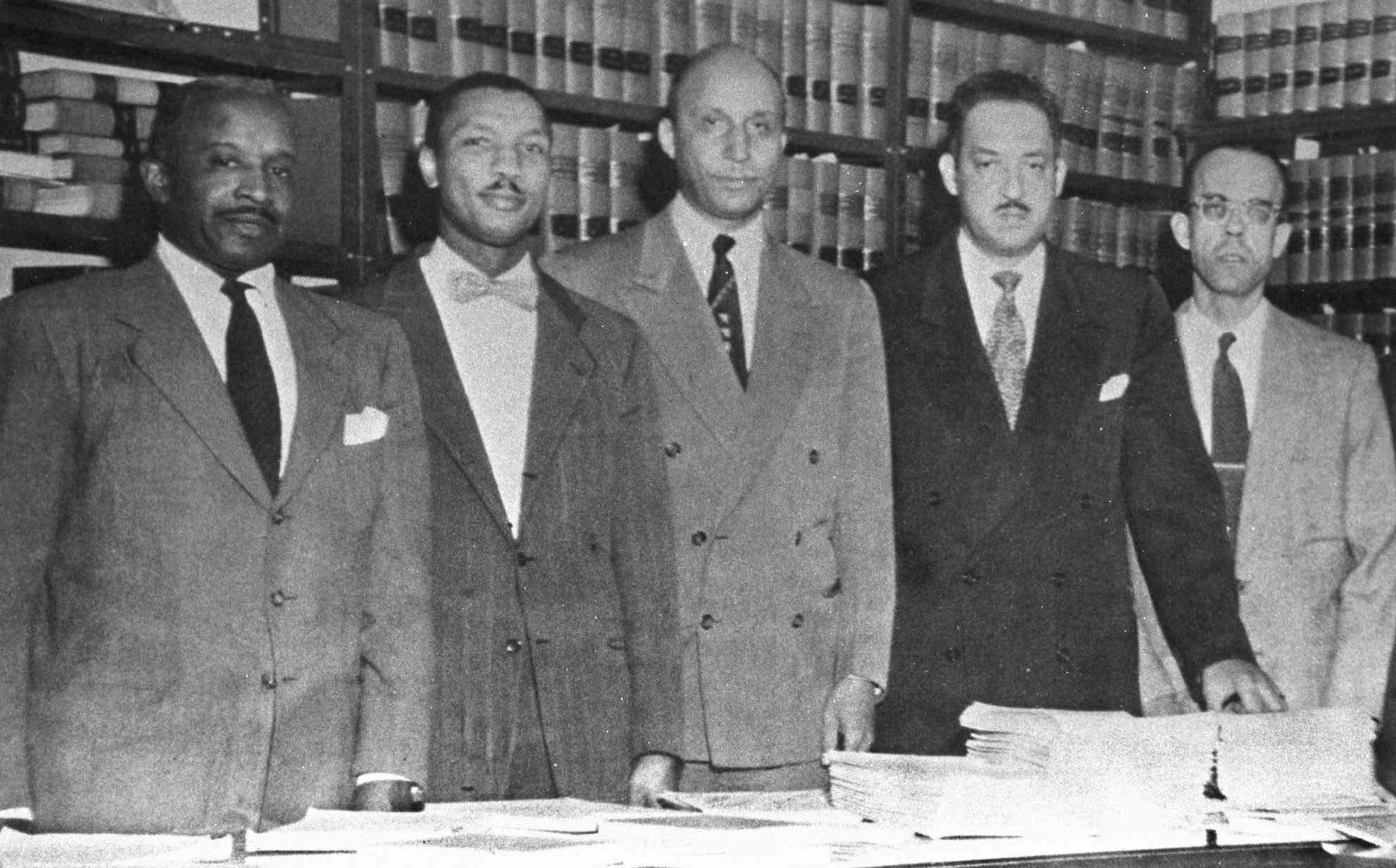 Louis L. Redding; Robert L. Carter; Oliver W. Hil; Thurgood Marshall; Spottswood W. Robinson III.
